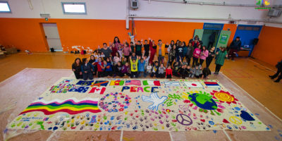 UN MURALE PER LA PACE PER KIDS' GUERNICA